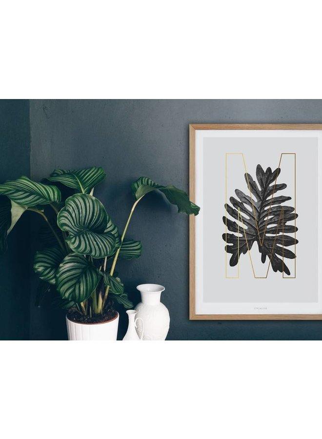 """Poster """"ABC Plants - M"""" von typealive"""