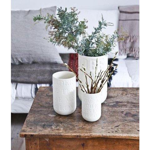 """Vase """"Love Song"""" Kalkweiß von Kähler Design"""