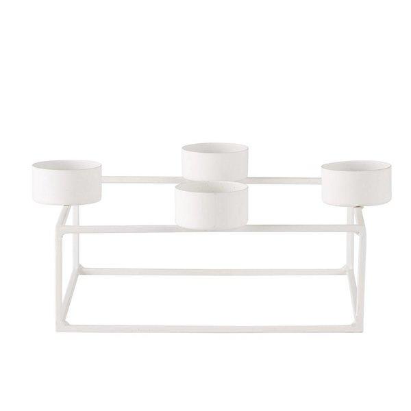 bovictus - KJ Collection Teelichthalter Metall Weiß von Bovictus