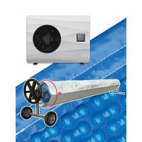 thumb-Bomba de calor con cobertor solar para piscina 4x8m-1