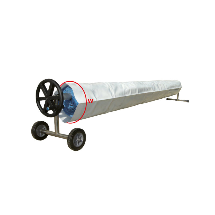 Heat pump with cover for swimming pool 5x10m-5