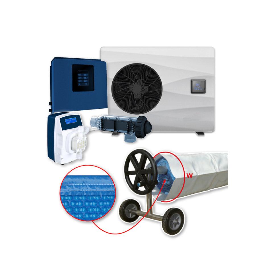 Calefacción con tratamiento de aqua para piscina 4x8m-1