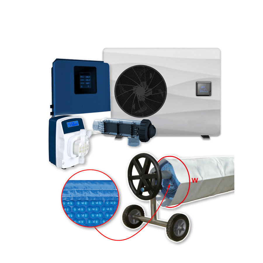 Calefacción con tratamiento de aqua para piscina 5x10m-1