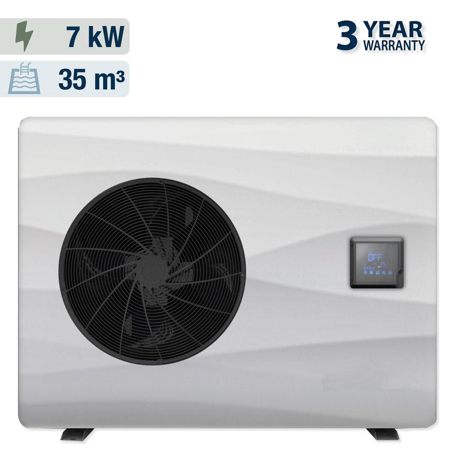 Warmtepomp met solar overdekking voor een zwembad 3x7m-2
