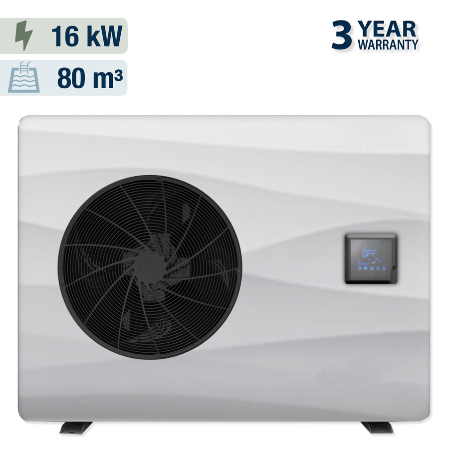 Heat pump with cover for swimming pool 5x10m-2