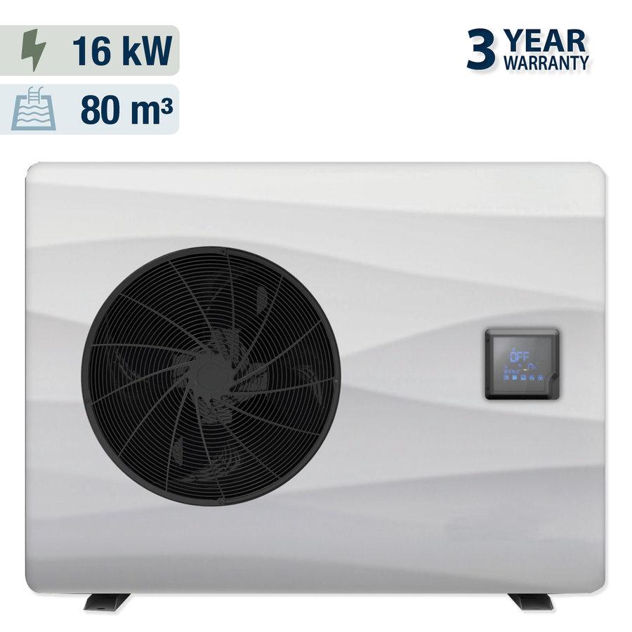 Warmtepomp met solar overdekking voor een zwembad 5x10m-2