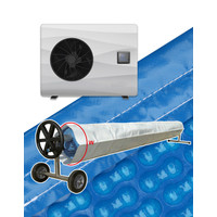 thumb-Heat pump with solar cover for swimming pool 5x10m-1