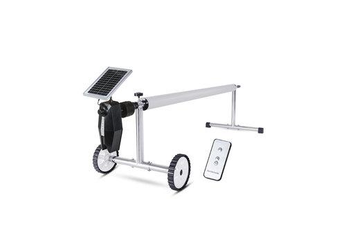 Enrollador  controlado por paneles solares
