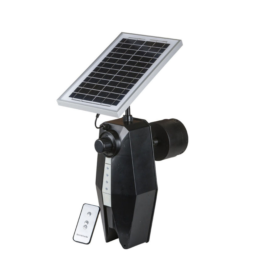 Solar panel controlled swimming pool roll-up system-2