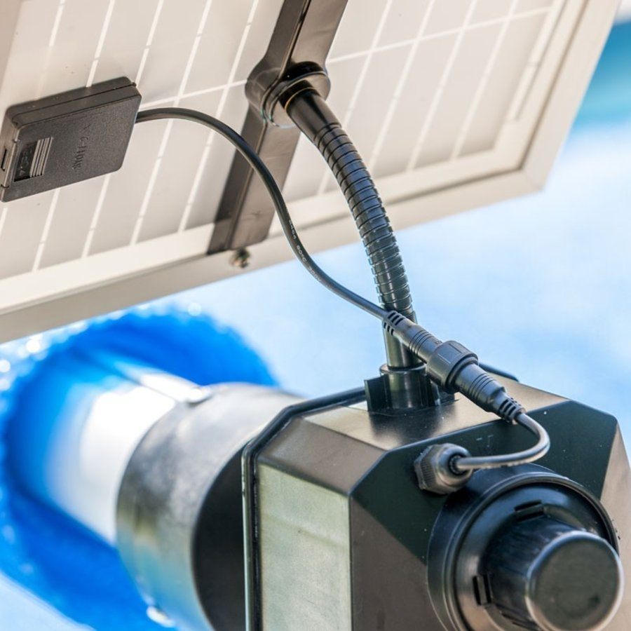 Solar panel controlled swimming pool roll-up system-4