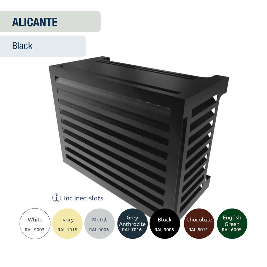 Air conditioning and heat pump encasement-9
