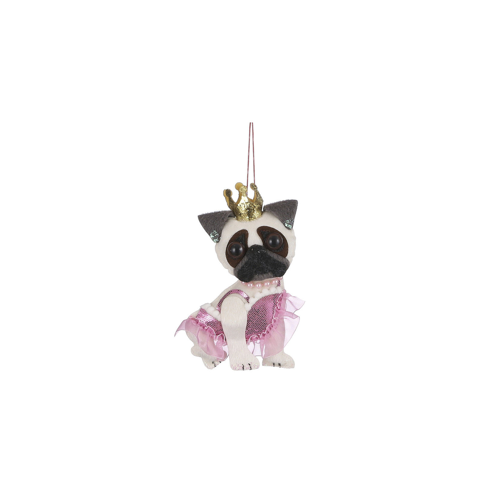 House of Seasons Ornament hond wit