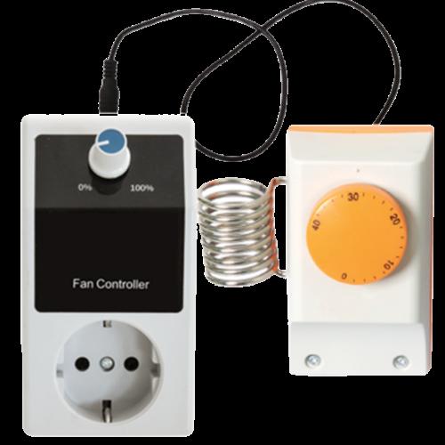 Fancontrol + thermostaat - Max 1000 Watt