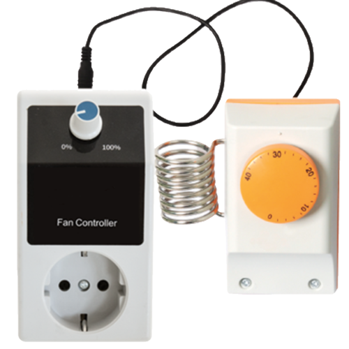 Fancontrol + thermostat - Max 1000 Watt