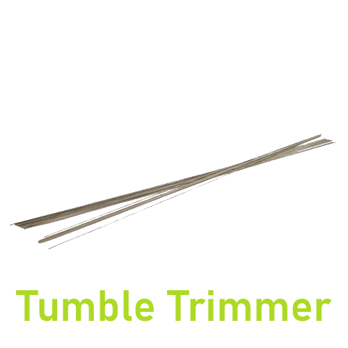 Tumble trimmer cutting wires