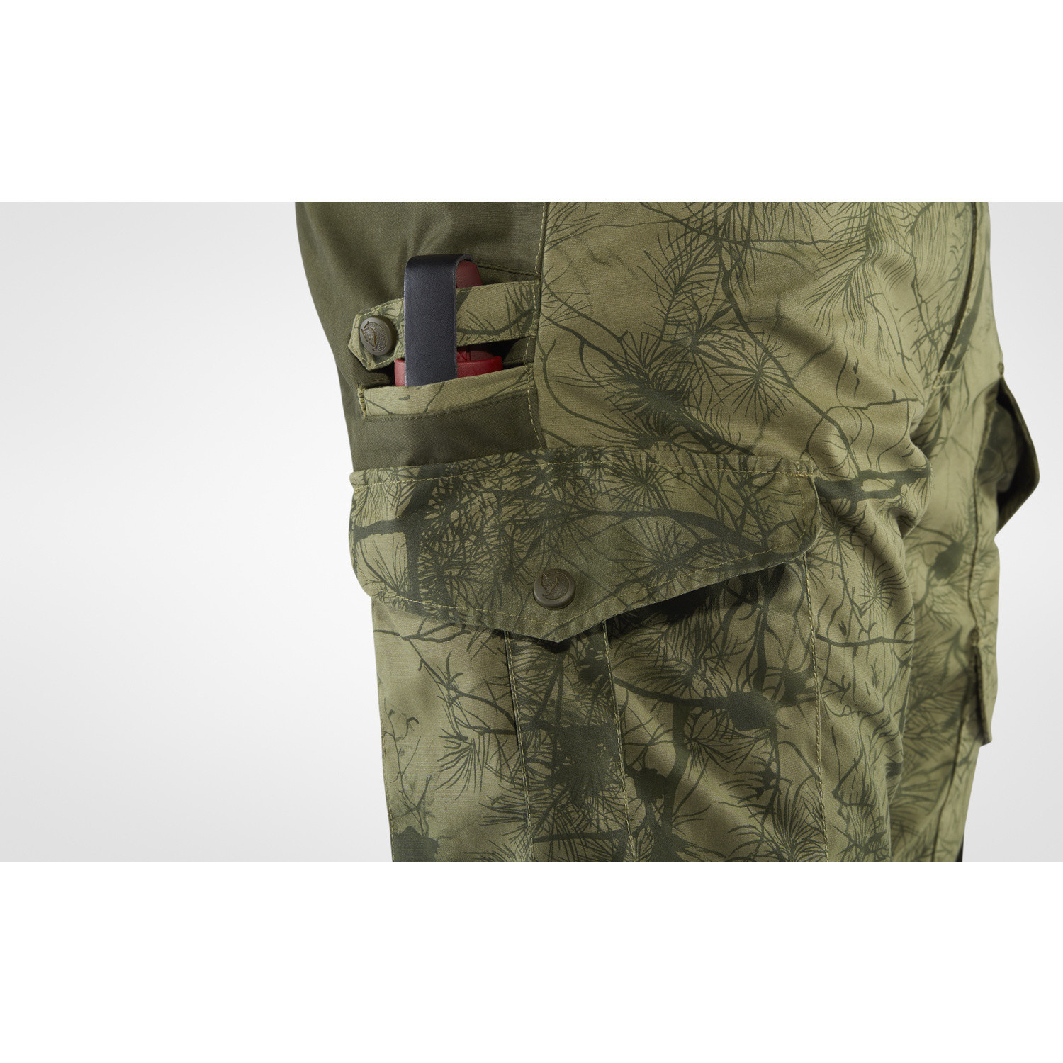 Fjällräven Barents Pro Hunting Trousers M Green Camo-Deep Forest-3