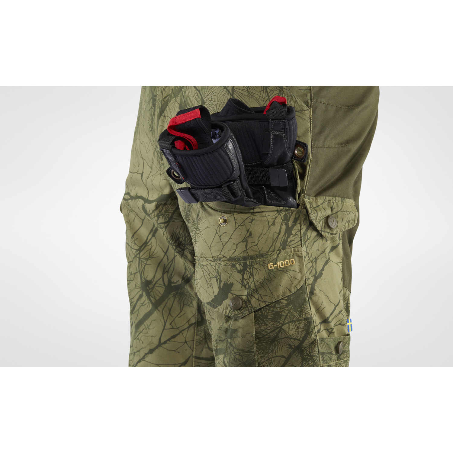 Fjällräven Barents Pro Hunting Trousers M Green Camo-Deep Forest-5