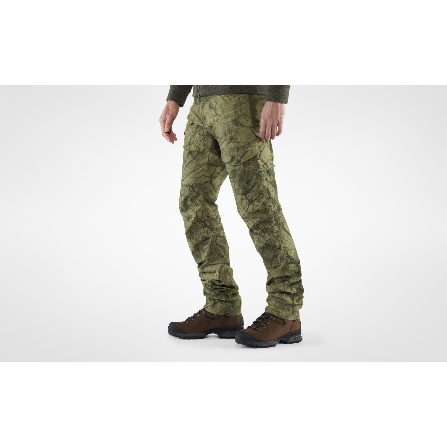 Fjällräven Barents Pro Hunting Trousers M Green Camo-Deep Forest-7
