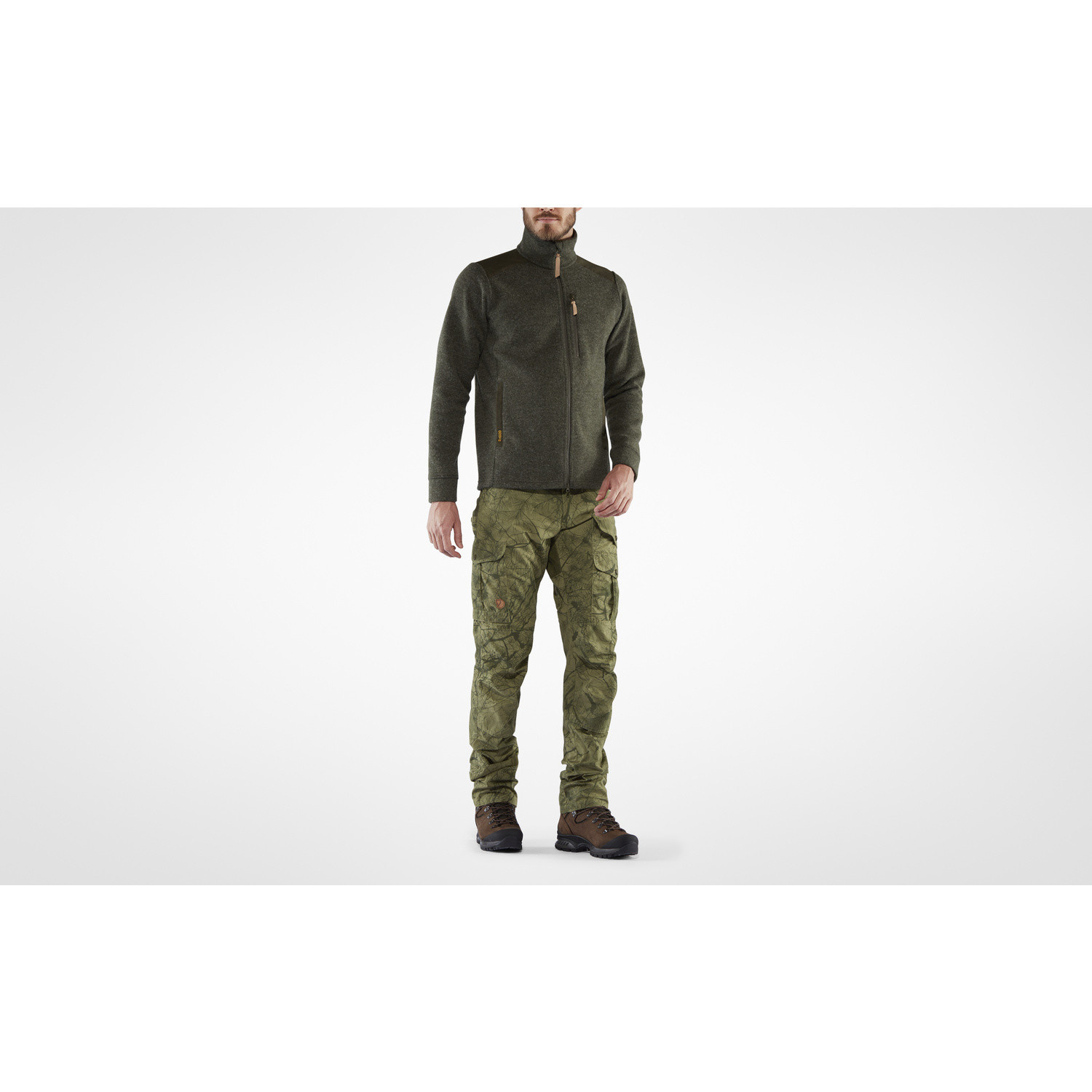Fjällräven Barents Pro Hunting Trousers M Green Camo-Deep Forest-8