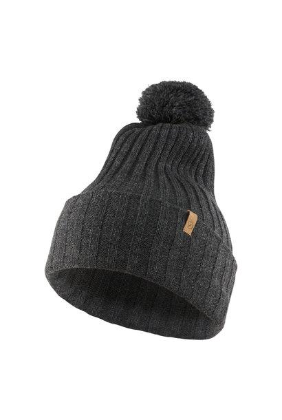 Fjällräven Byron Solid Pom Hat Dark Grey