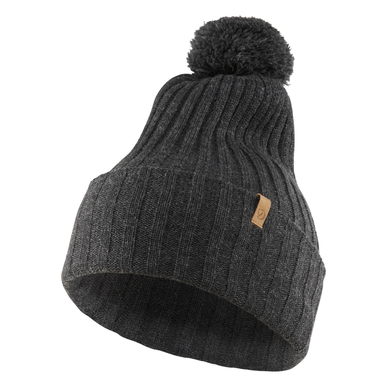 Fjällräven Byron Solid Pom Hat Dark Grey-1