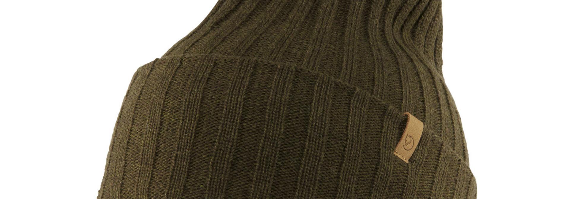 Fjällräven Byron Solid Pom Hat Dark Olive