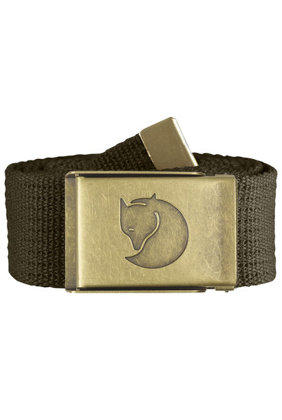 Fjällräven Canvas Brass Belt 4cm Dark Olive