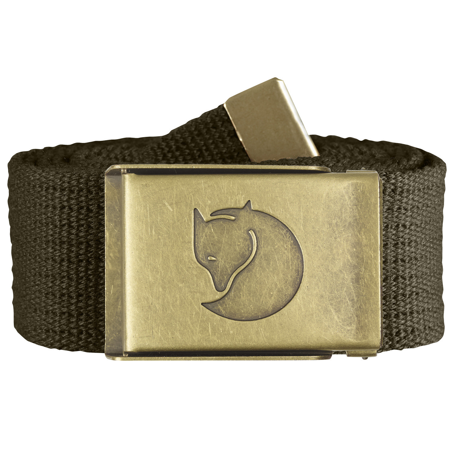 Fjällräven Canvas Brass Belt 4cm Dark Olive-1