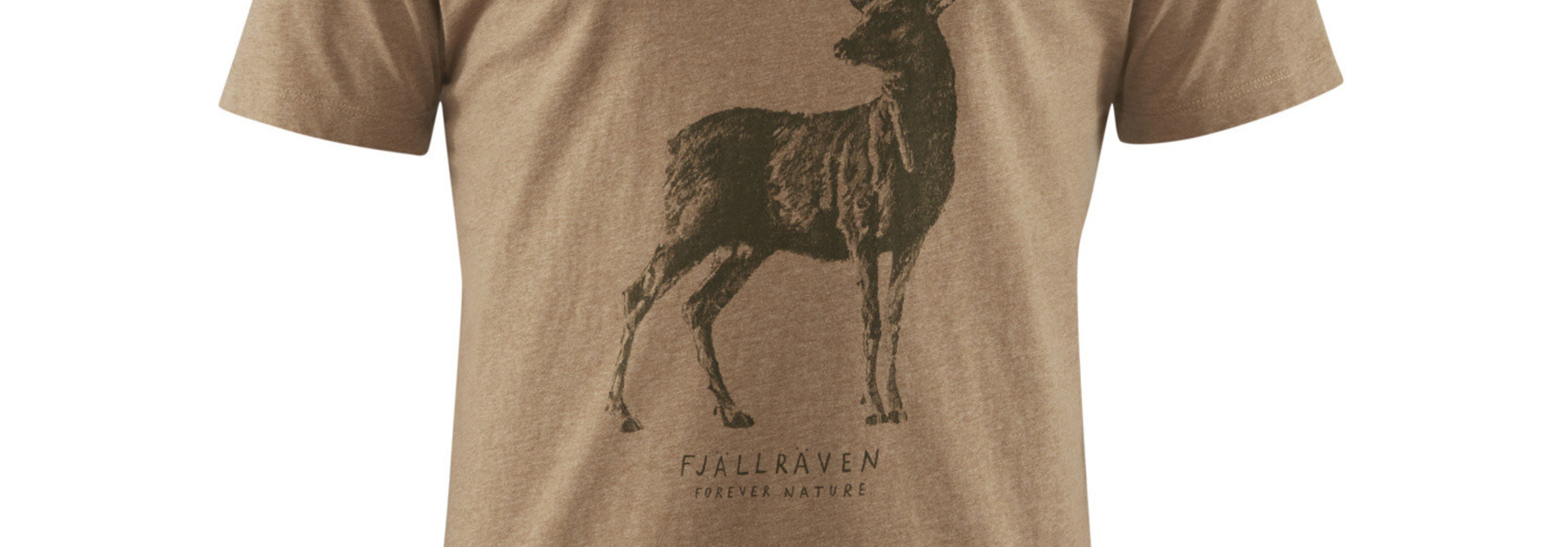 Fjällräven Deer Print T-shirt M Dark Sand