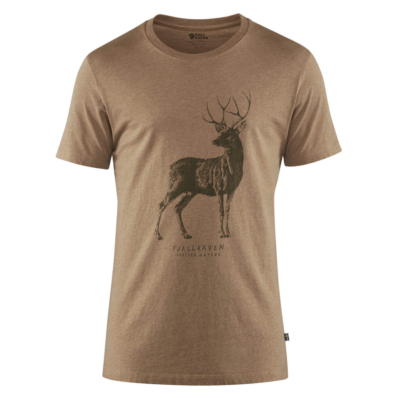 Fjällräven Deer Print T-shirt M Dark Sand-1