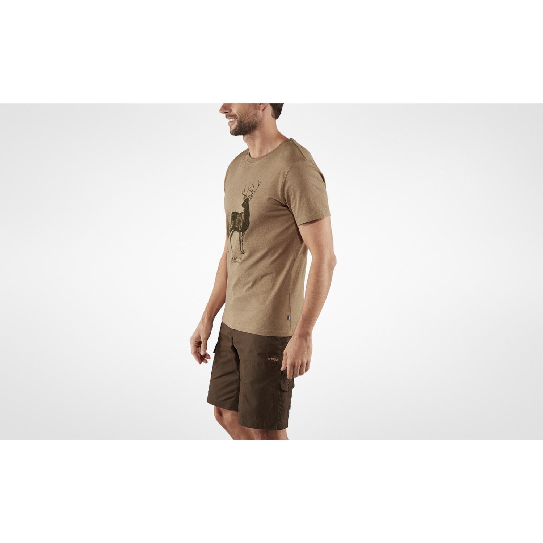 Fjällräven Deer Print T-shirt M Dark Sand-3