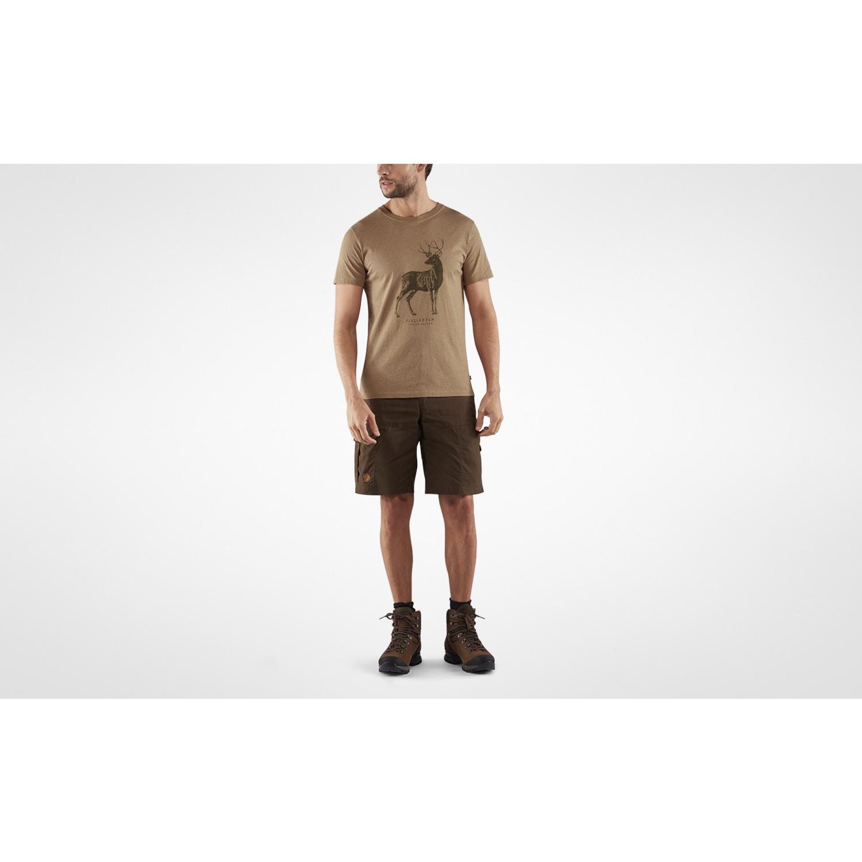 Fjällräven Deer Print T-shirt M Dark Sand-5