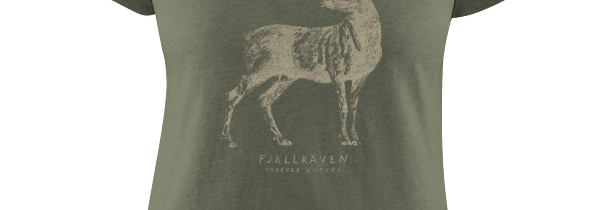 Fjällräven Deer Print T-shirt W Tarmac
