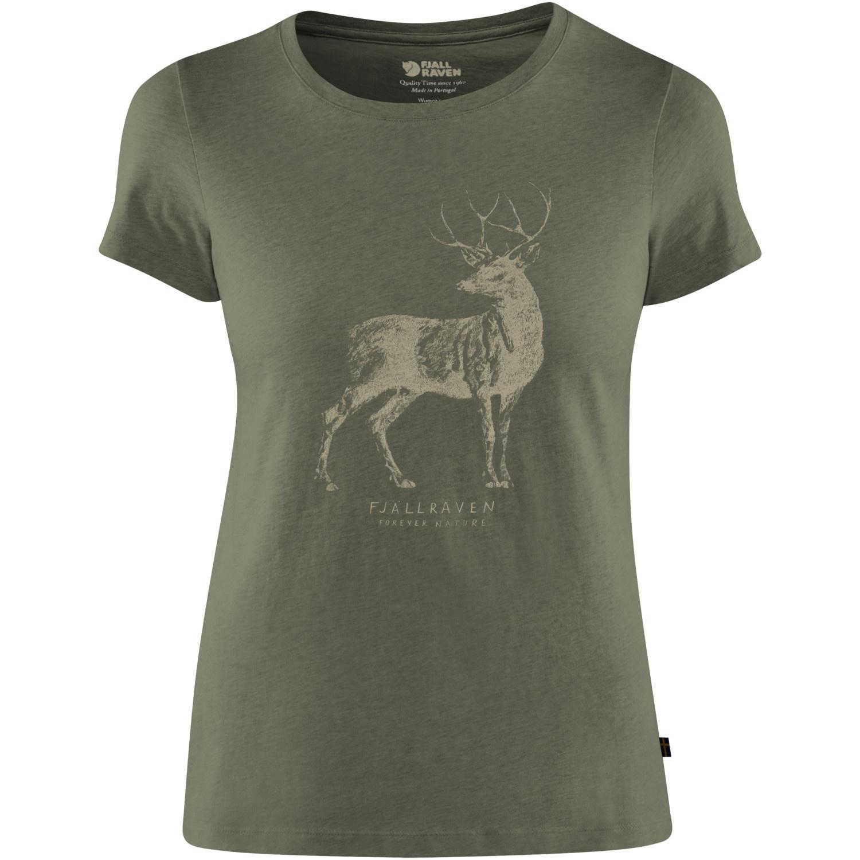 Fjällräven Deer Print T-shirt W Tarmac-1