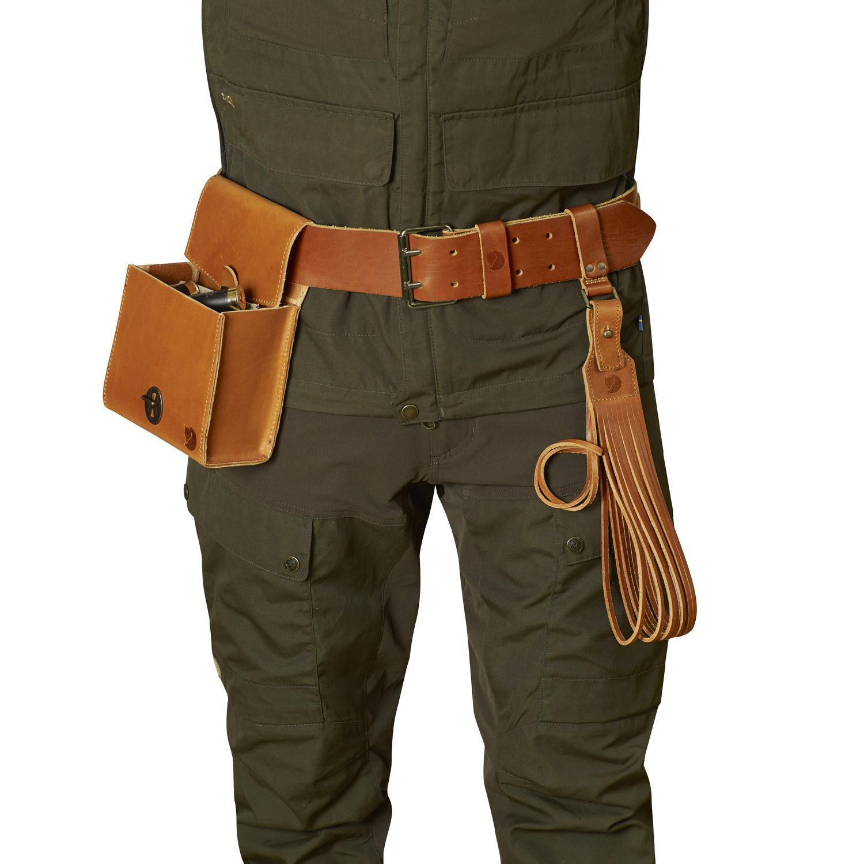 Fjällräven Equipment Belt Leather Cognac-3