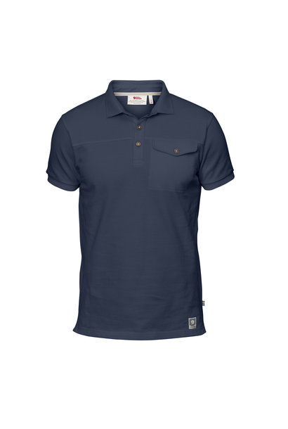 Fjällräven Greenland Polo Shirt M Dark Navy