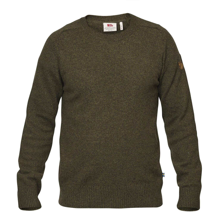 Fjällräven Övik Re Wool Sweater M Dark Olive-1