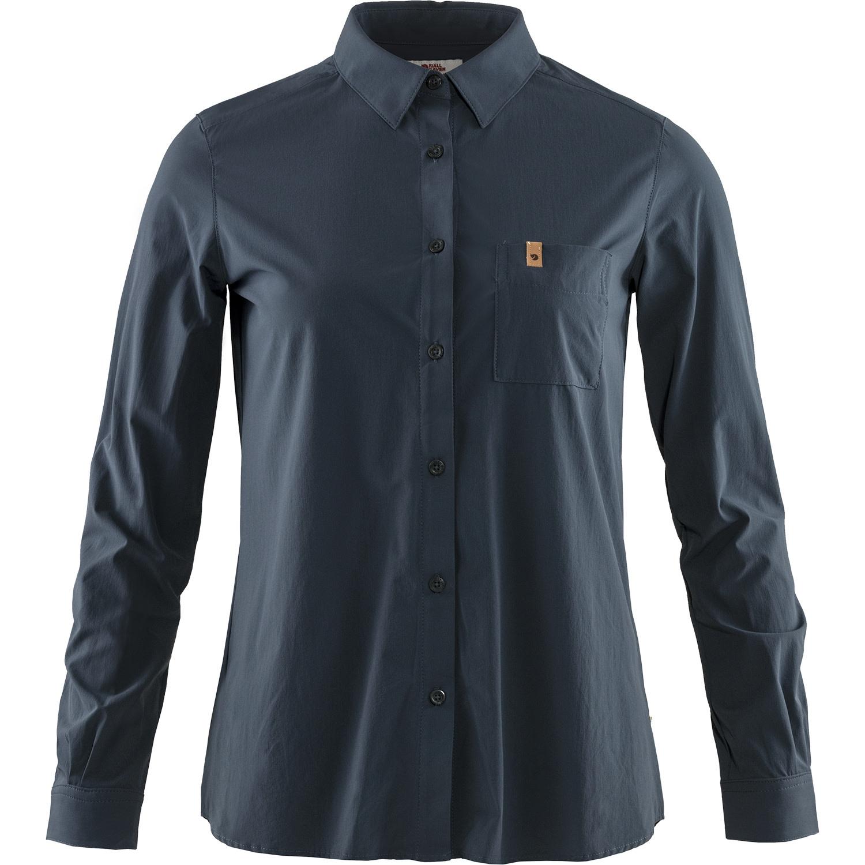 Fjällräven Övik Lite Shirt LS W Navy-1