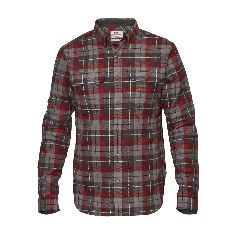 Fjällräven Singi Heavy Flannel Shirt M Dark Grey-1