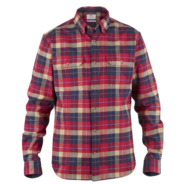 Fjällräven Singi Heavy Flannel Shirt M Deep Red-1