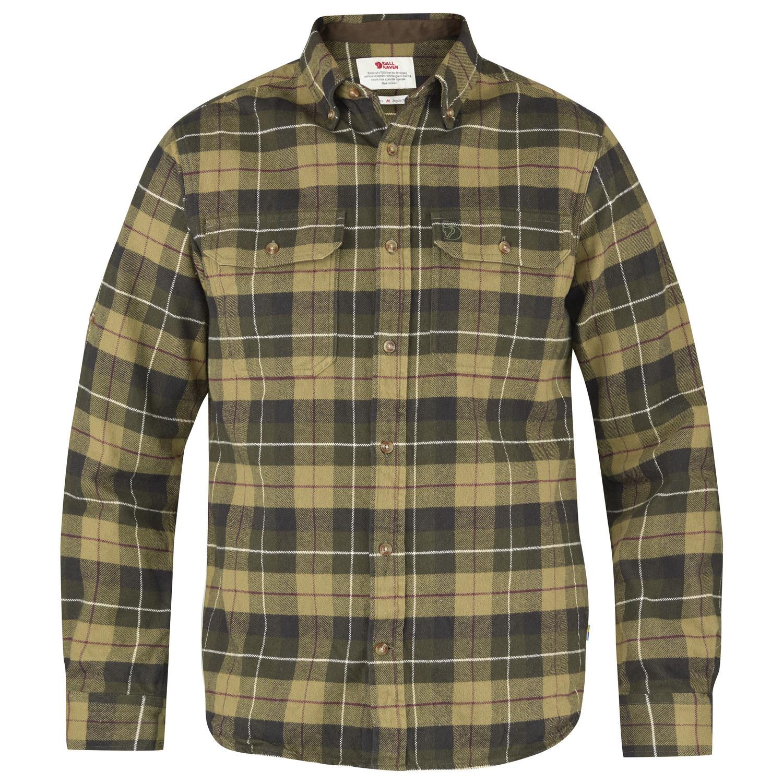Fjällräven Singi Heavy Flannel Shirt M Green-1
