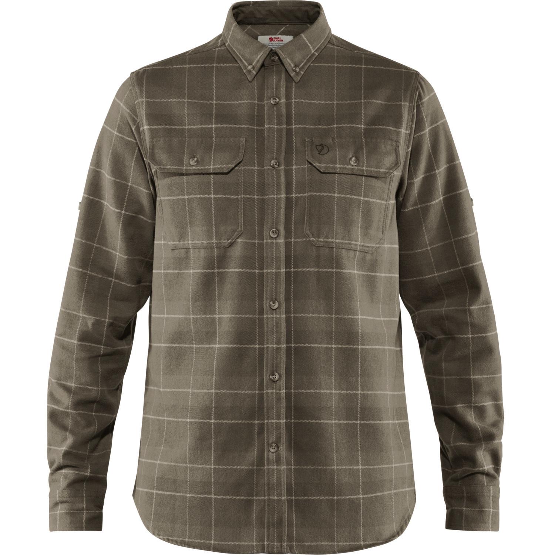 Fjällräven Singi Heavy Flannel Shirt M Dark Olive-1