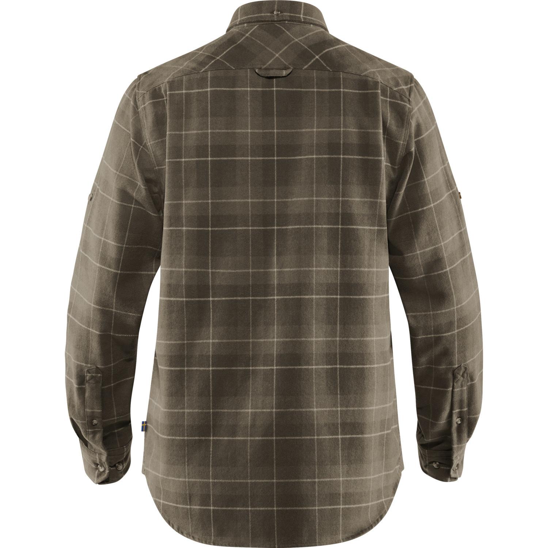 Fjällräven Singi Heavy Flannel Shirt M Dark Olive-2