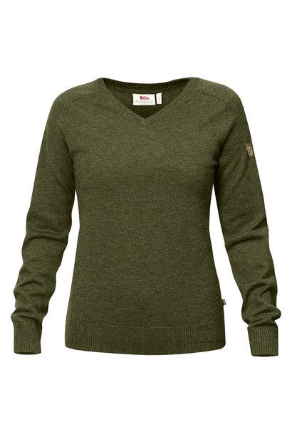 Fjällräven Sörmland V-neck Sweater W Dark Olive