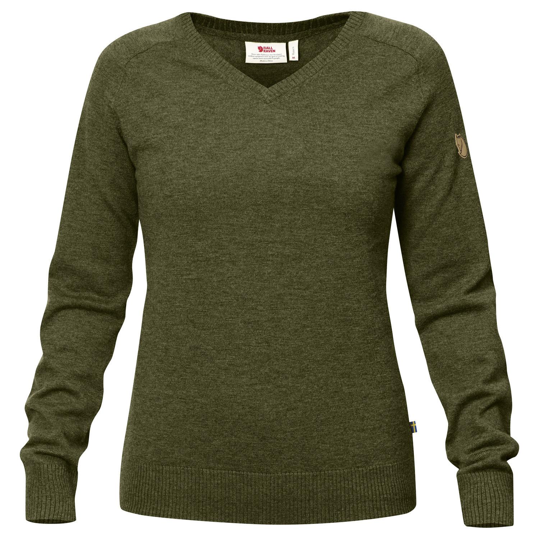 Fjällräven Sörmland V-neck Sweater W Dark Olive-1