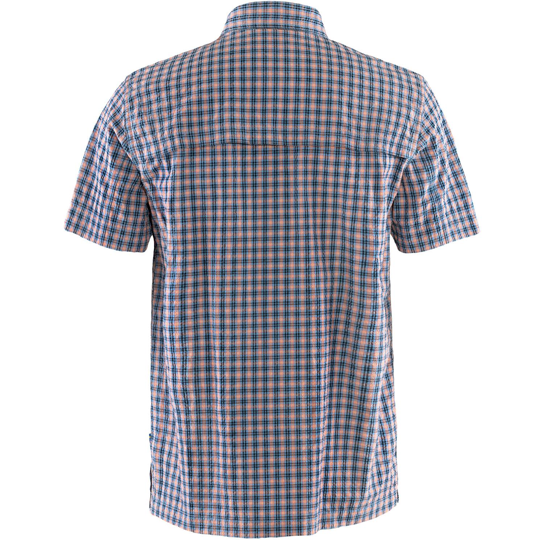 Fjällräven Svante Seersucker Shirt SS M Navy-2