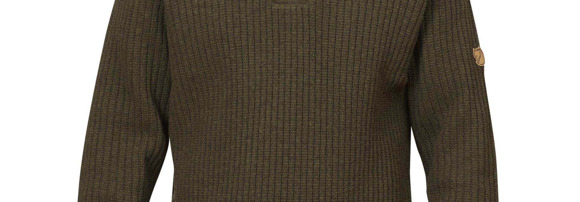 Fjällräven Värmland T-neck Sweater M Dark Olive
