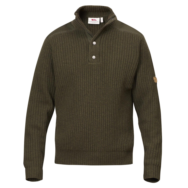 Fjällräven Värmland T-neck Sweater M Dark Olive-1