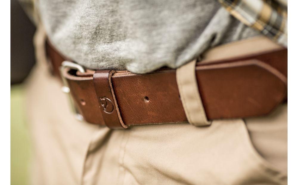 Fjällräven Singi Belt 4 cm Leather Brown-2