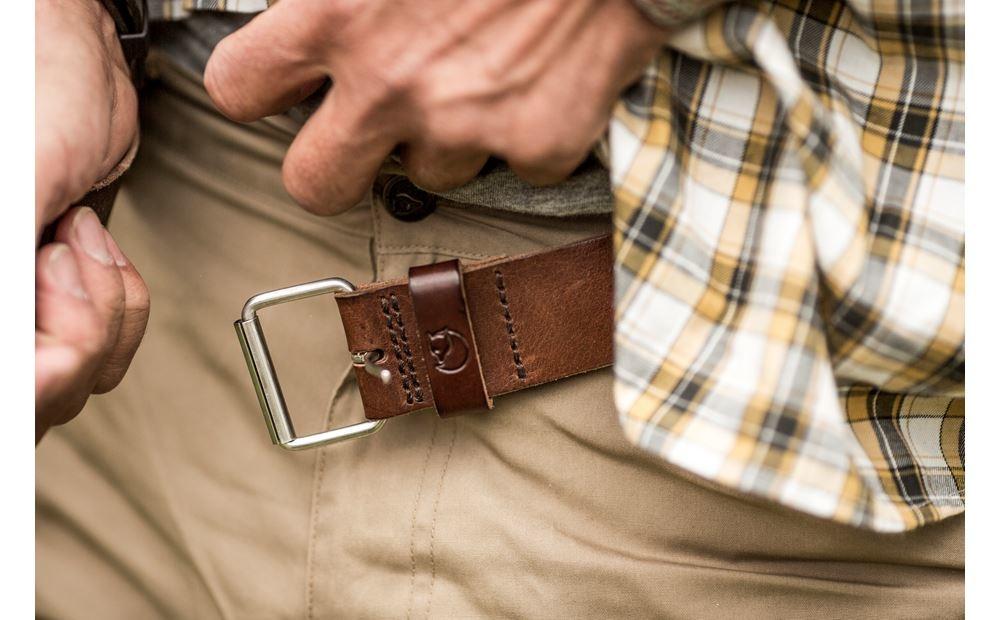 Fjällräven Singi Belt 4 cm Leather Brown-3